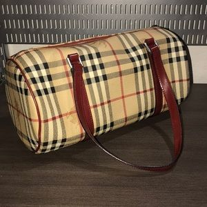 Authentic Burberry Vintage Check Hand Bag